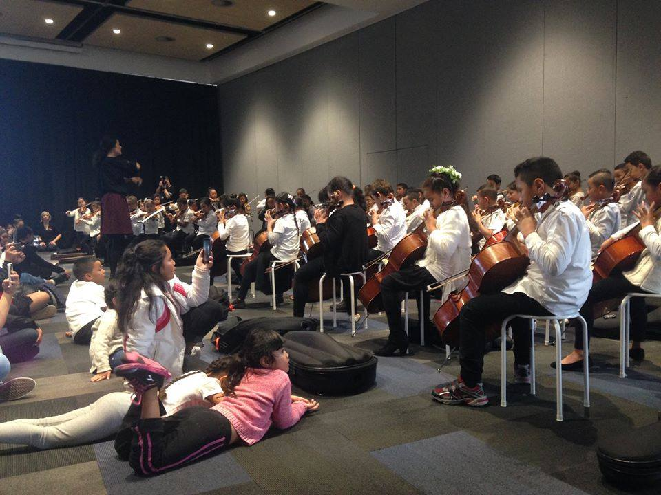 Sistema Aotearoa performing in South Auckland at the Vodafone Events Centre