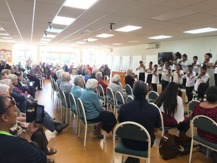 Sistema Aotearoa performing at Landford Retirement VIllage